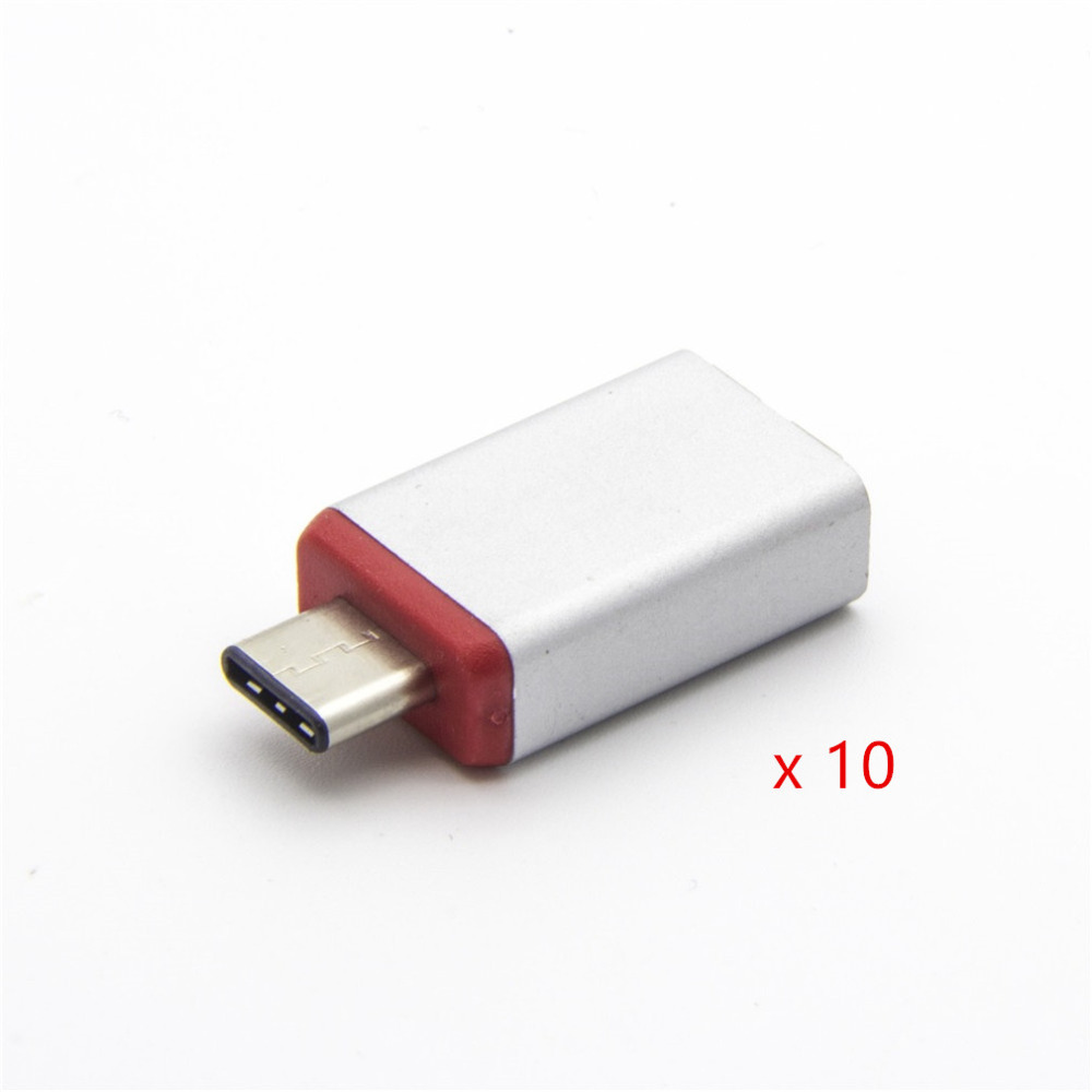 10 PCS Aluminum Case USB 3.1 To Micro USB 5P Converter Adapter USB3.1 Male To Micro USB Female Converter Connector