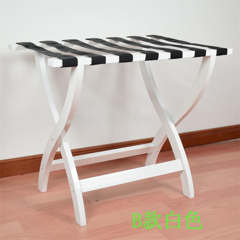 Гостиничная мебель для отеля багажные стеллажи прикроватная тумбочка для спальни складной домашний пол вешалка для одежды дерево - Цвет: VIP 7