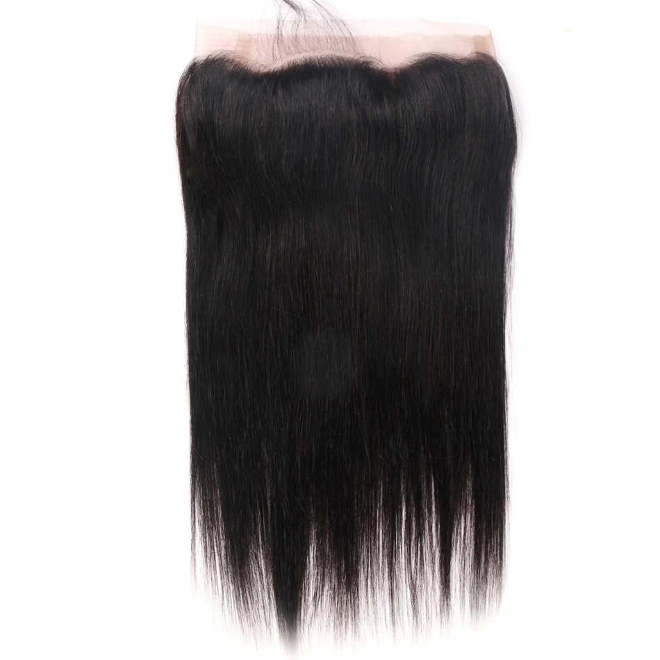 Mifil 360 Кружева Фронтальная Закрытие индийские прямые волосы 360 Фронтальная Закрытие с волосами младенца не Remy 100% человеческих волос расширение