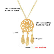 2018 Trendy Indian Jewelry Sets Stainless Steel Vintage Dream catcher Necklace Stud Earrings Jewelry set