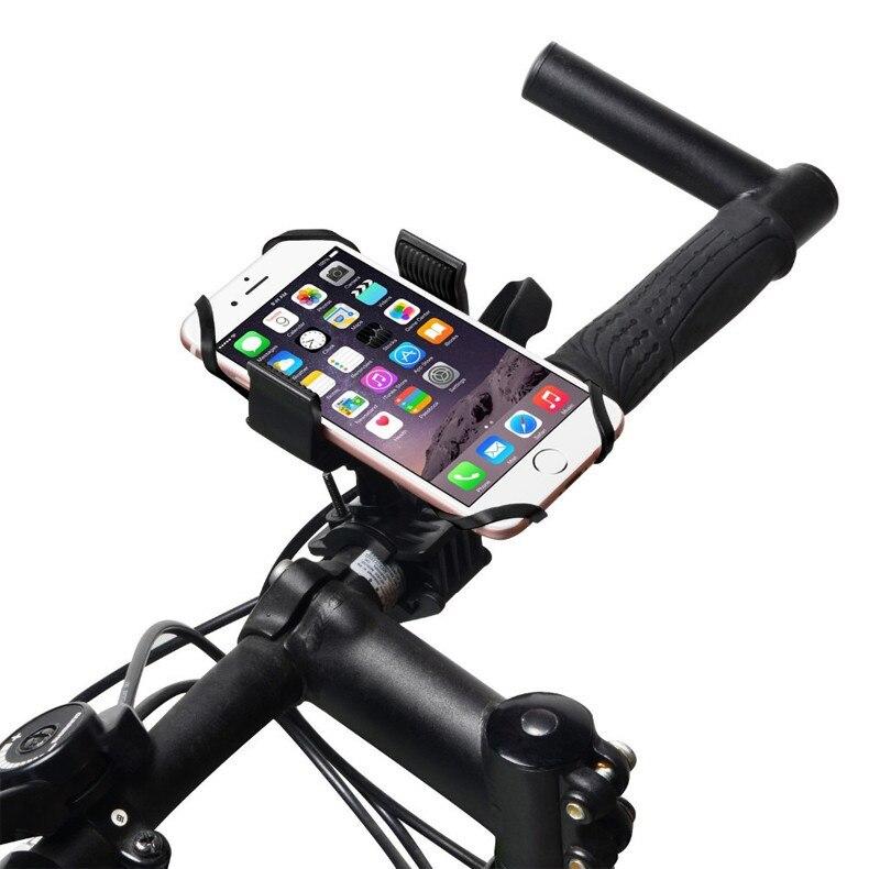 360 rotación de soporte de bicicleta de teléfono para iphone 5s 6s 7 samsung j3
