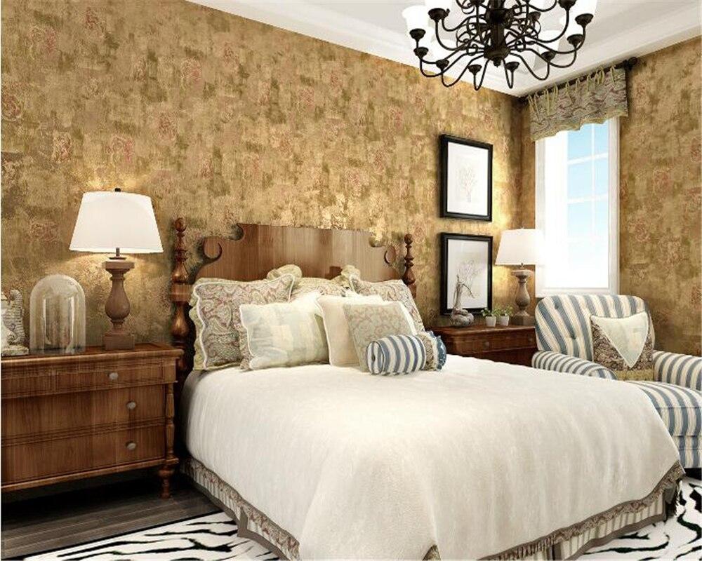 Slaapkamer Kleuren Grijs : Beibehang pure kleur gevlekte retro oude behang grijs amerikaanse