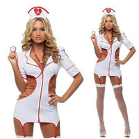 3XL Plus Size Adult Costume White Nurse Uniform Temptation Role Playing Sexy Bodysuit Women Costumes Erotic