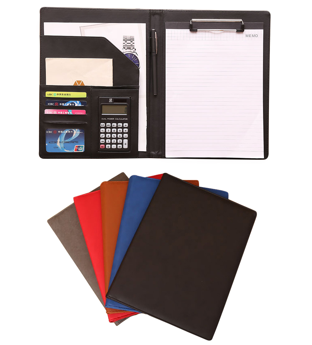A4 professional office business classical file folder portfolio executive with clip board calculator document organizer a4 document bag file folder portfolio organizer computer notebook zippered case