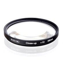 Elevação (reino unido) 58mm macro close up + 10 close up filtro para todas as câmeras digitais dslr 58mm lente