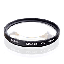 RISE (İngiltere) 58mm makro yakın çekim + 10 yakın filtre tüm DSLR dijital fotoğraf makineleri 58MM LENS