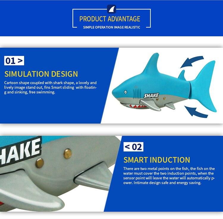 Tubarão Peixe Eletrônico Barco de Controle Remoto