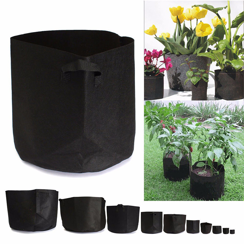 1 20 Gallons Felt Fabric Round Grow Bags Pots Plant Pouch