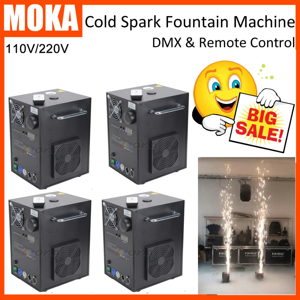 4 pcs/lot electric Stage cold spark machine dmx firework Fountain for wedding party even ...