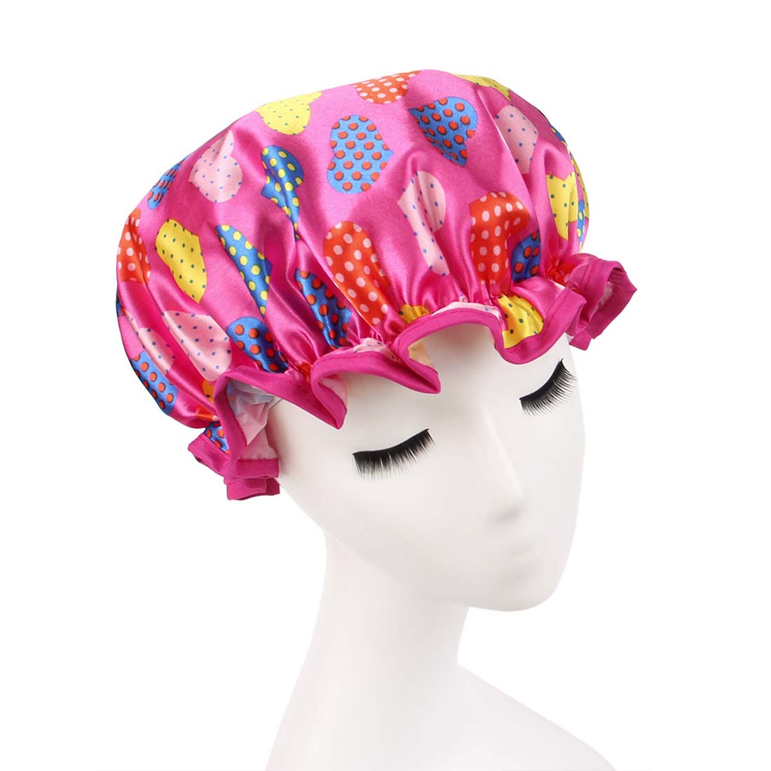 Bathroom accessories women shower cap colorful bath shower for Colorful bathroom accessories