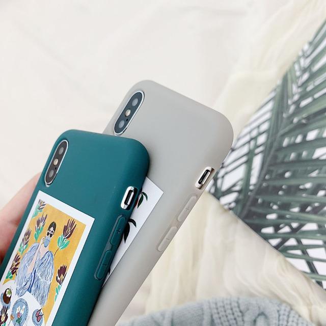 Orange Illustration Matte Phone Case for iPhone