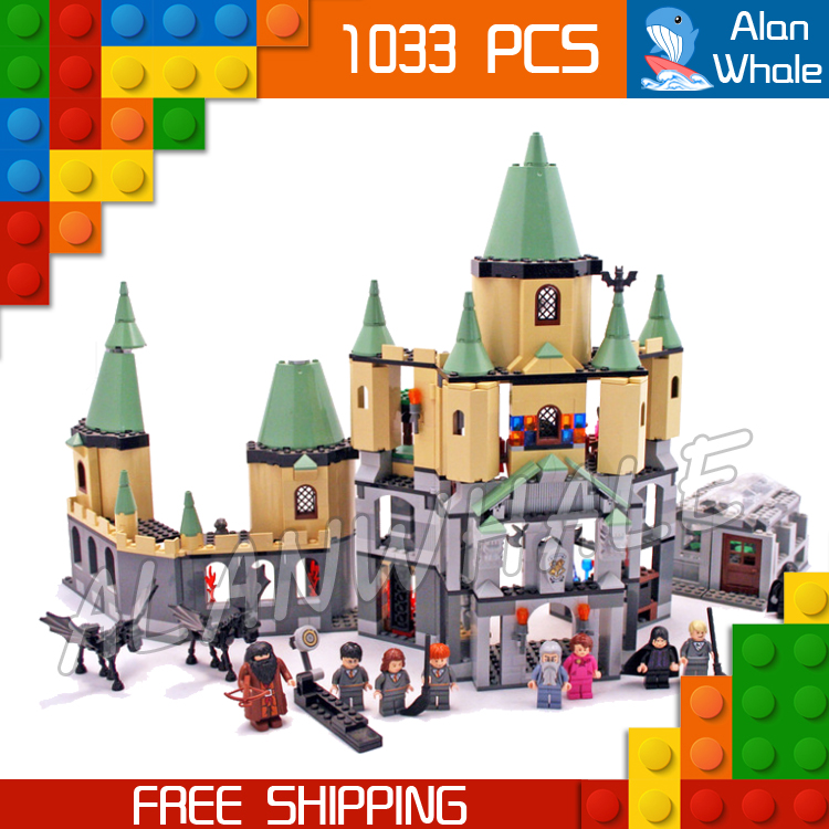 1033pcs Harry Potter Magic Hogwarts Castles 16029 Model Building Blocks Assemble Brick Children Toys Movie Compatible With Lego rowling j harry potter a history of magic