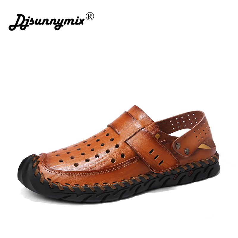 Fashion Comfortable Men Flat Shoes Superstar Lace-up Solid Genuine Leather Slip On Shoes Men Causal Breathable Loafers