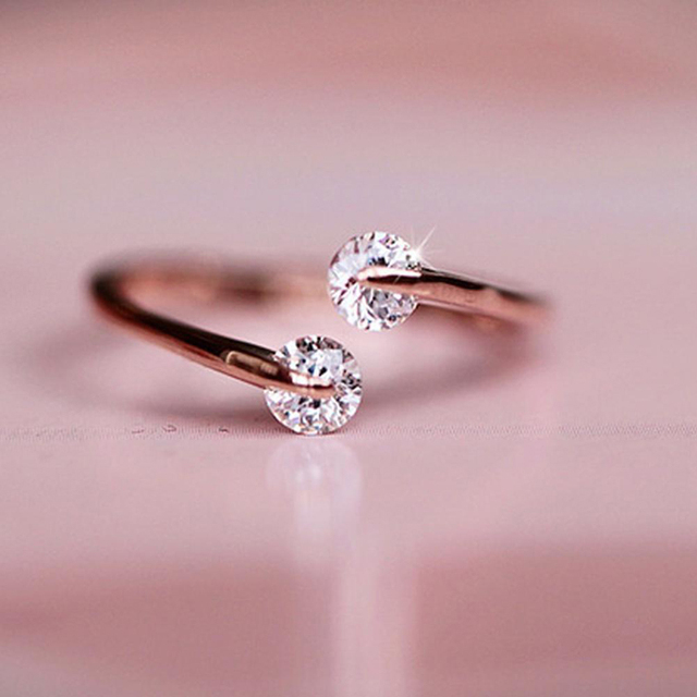Modny srebro/pozłacany pierścionek Temperament pierścień pierścionek z ogonkiem otwór może być dostosowana biżuteria akcesoria do prezentów