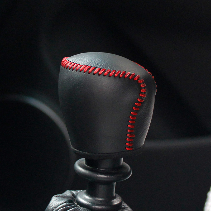 Top layer leather case on the gear shift lever for Chevrolet Cruze MT gear knob cover accessories gear stick case ppc cpr gear shift
