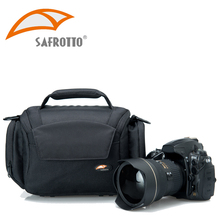 Safrotto Good Quality Soft Inner Divider DSLR Handbag Shockproof Protector Camera Shoulder Bag for Canon 5D3 6D 7D 60D 750D D700