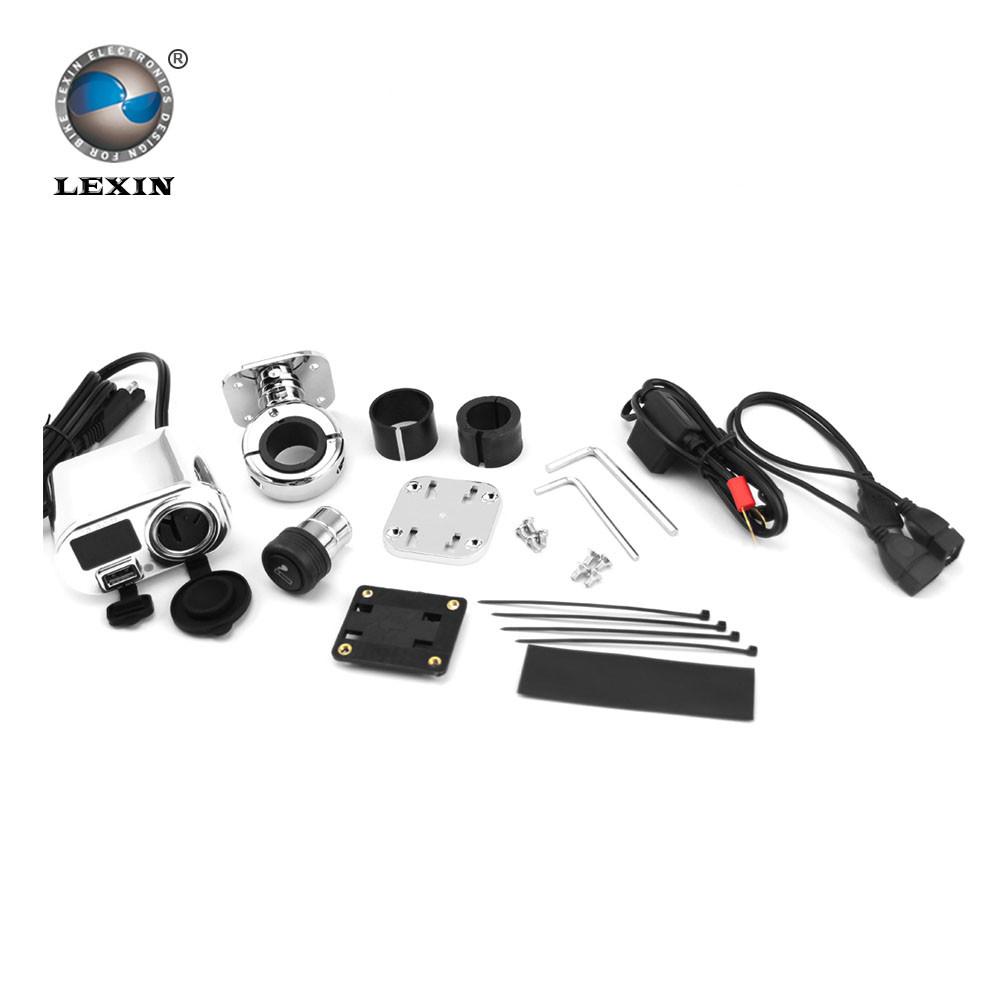 Lexin 3 In 1 Motorcycle Charger 12v Cigarette Lighter  U2013 Super Biker Store