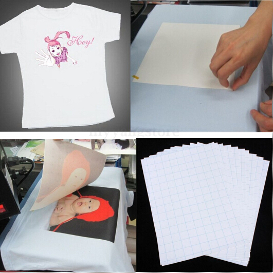 2018 Hot Sale 10PCS Sheets T-Shirt A4 Heat Transfer Paper Iron On Inkjet Heat Transfer Paper For Light Color Fabrics Cloth