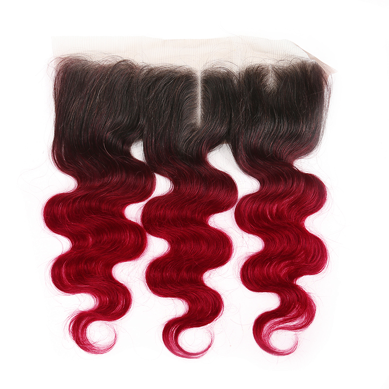 1B 99J/Burgundy Body Wave 13*4 Lace Frontal With Baby Hair KEMY HAIR Free/Middle Part Lace Frontal Closure Non-Remy Hair
