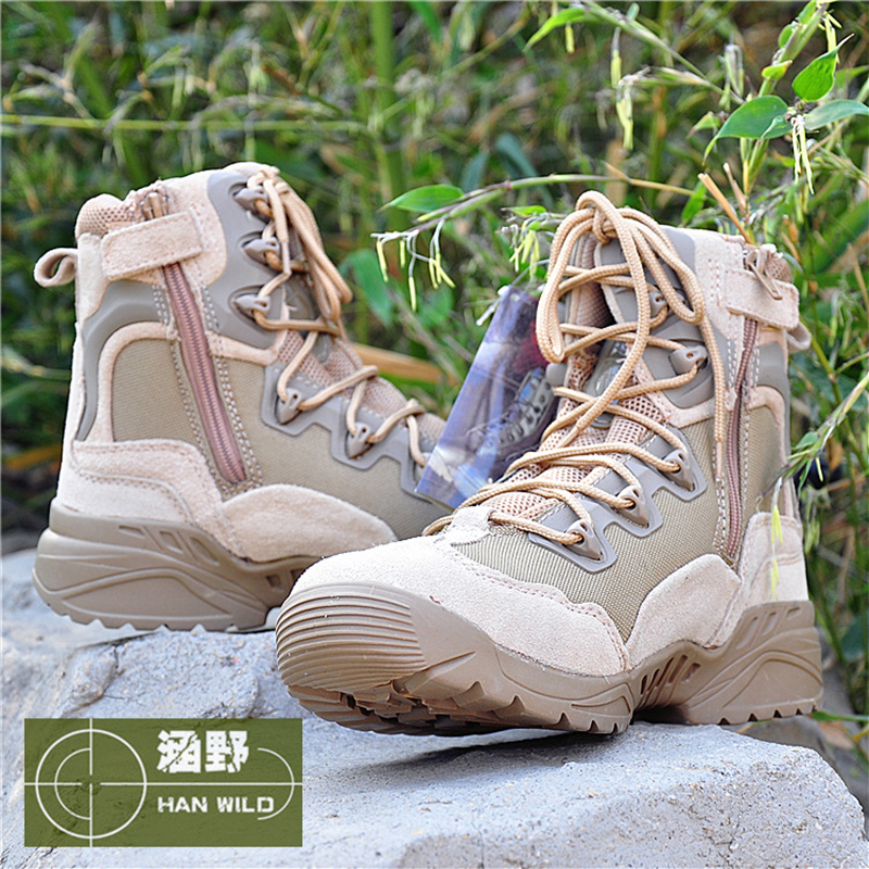 Hot ! Outdoor Sport Men High Top Boots Tactical Hunting Combat Leather Boots Men Breathable Sport Shoes High Boots Sneakers peak sport men outdoor bas basketball shoes medium cut breathable comfortable revolve tech sneakers athletic training boots