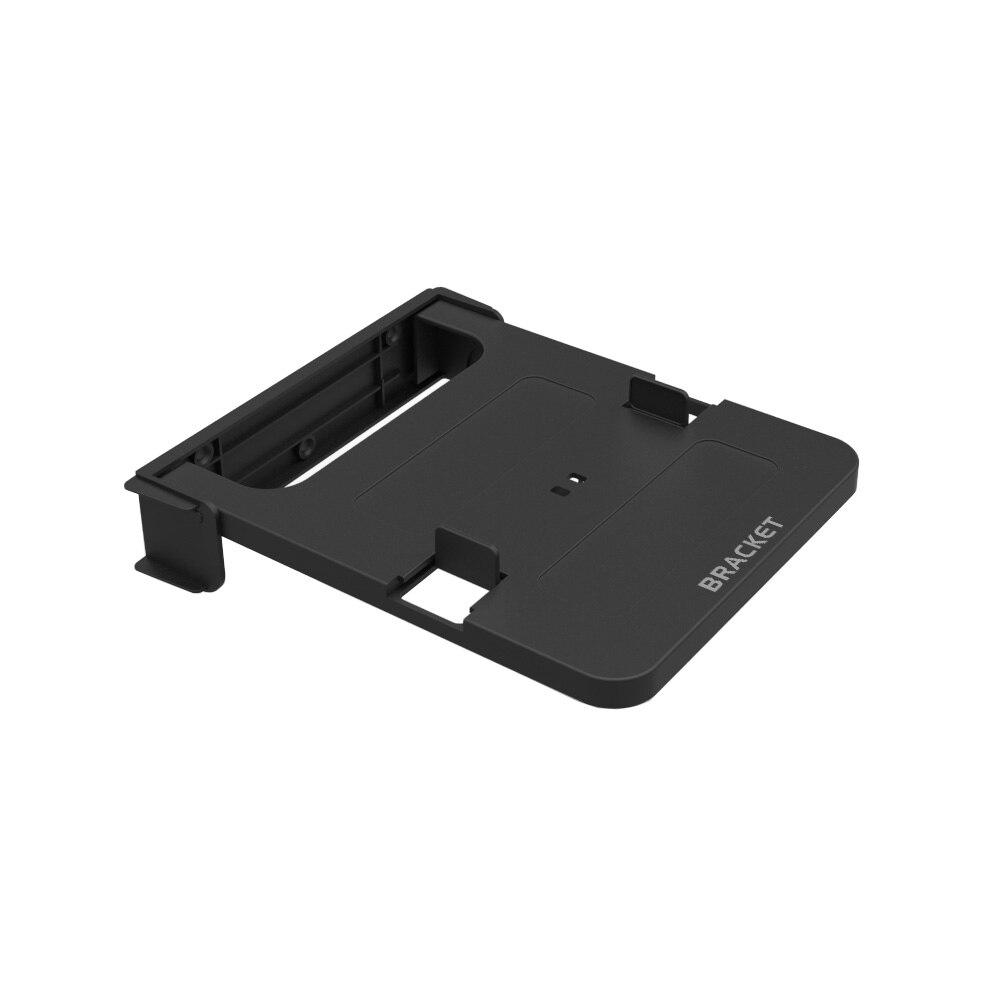 Складной кронштейн 100-135 мм для Android tv Box set top box подставка держатель стойки настенные крепления для хранения одной полки - Цвет: Черный