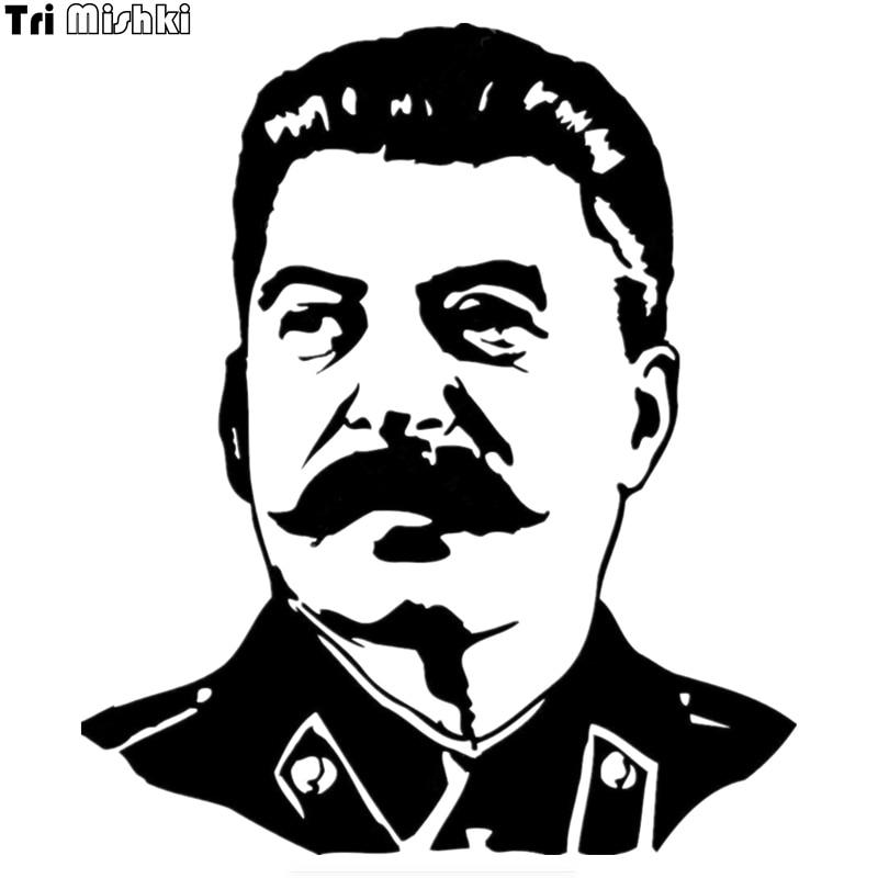 Tri Mishki HZX375# 15*13cm Stalin Ussr Leader Car Sticker Auto Funny Car Stickers