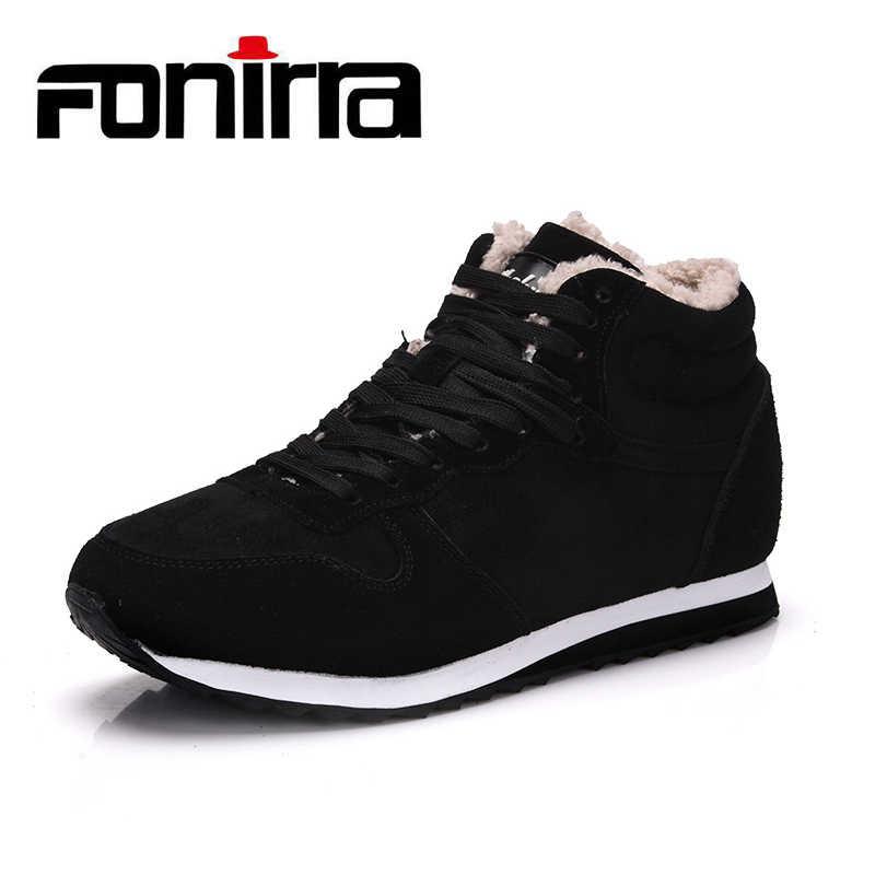 57a6a64192a0 FONIRRA новые модные мужские зимние ботинки, рабочая обувь, уличная зимняя  обувь, очень