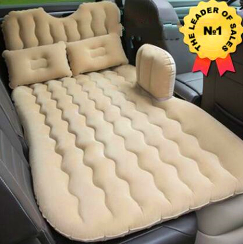 Outdoor Camping Mat Cushion Car Air Inflatable Travel Mattress Bed Universal for Back Seat Multi functional Sofa Pillow