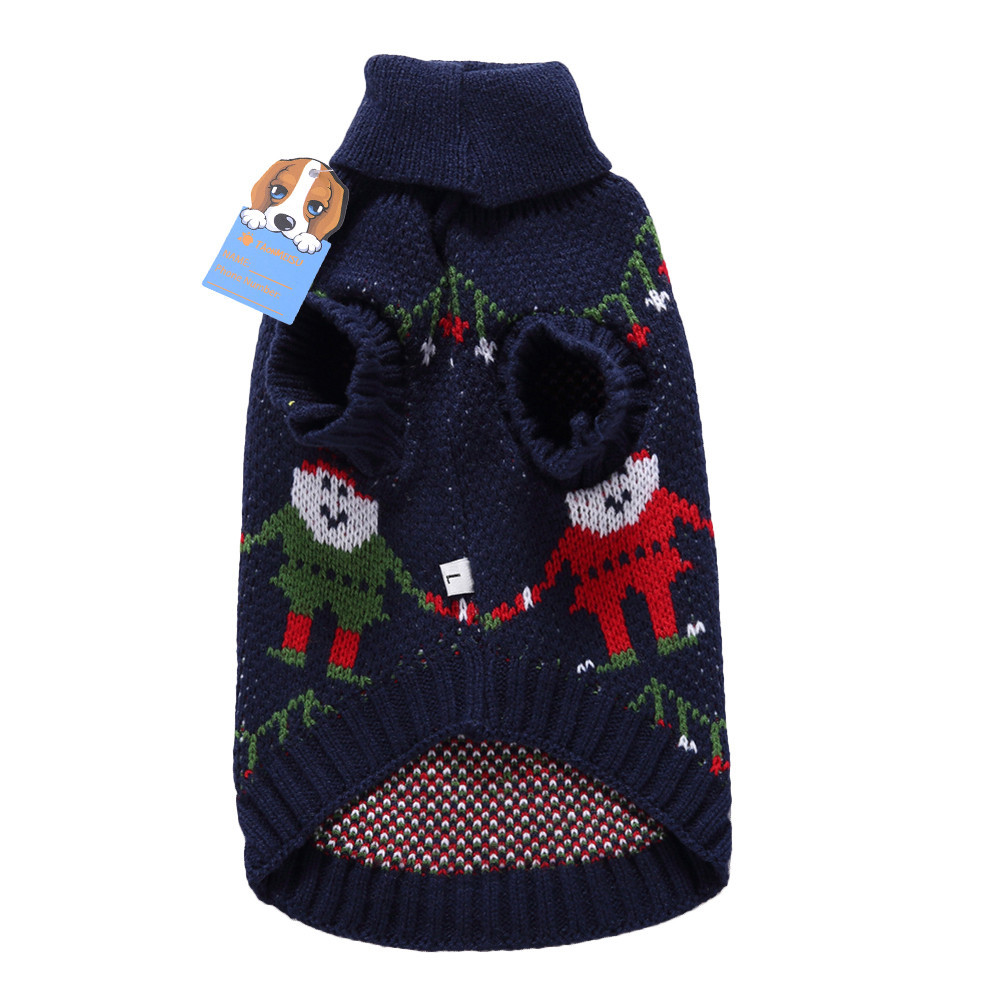 Christmas Santa Claus Pet Dog Sweater Holiday Festival Party Clothes Puppy Dog Festivals Clothing Outdoor Wram Sweater 2017