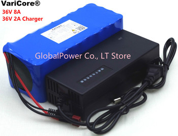 36V 8Ah 10S4P 500w 18650 Rechargeable battery pack ,modified Bicycles,electric vehicle 36V Protection with BMS+42V 2A Charger