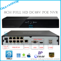 8CH NVR PoE Onvif Full HD 1080 P 48 V Real All-in-one de Vídeo em Rede gravador para Câmeras IP PoE P2P Cloud Service XM xmeye NVR POE
