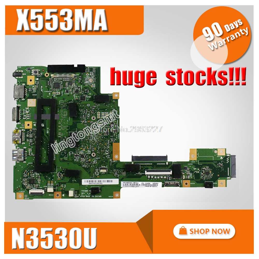 FOR ASUS Motherboard A553M A553MA D553M F553M F553MA K553M X503M X503MA F503MA X553M X553MA REV2.0 N3530U Mainboard Tested ok new laptop dc power jack socket for asus d553m f553ma x453ma x553 x553m x553ma series charging port connector