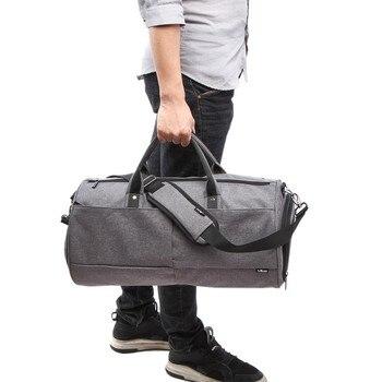 1 adet Su Geçirmez Kar Tanesi Açık Egzersizleri Kumaş spor çantaları Erkekler için 22L Büyük Çanta Ayakkabı Bölmesi ile Spor çantası. j2