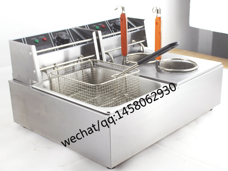Commercial 110V/220V  kitchen equipemnt table top electric 2 tank pasta / noodle cooker with  deep fryer /bain marie Commercial 110V/220V  kitchen equipemnt table top electric 2 tank pasta / noodle cooker with  deep fryer /bain marie