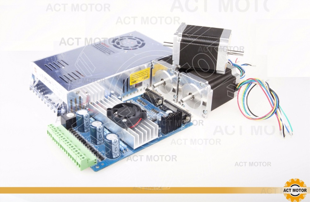 ACT Motor 3Axis Nema23 Stepper Motor 23HS8430 4-Lead 270oz-in 76mm 3.0A Bipolar+Driver Board TB6560+Power CNC Router germany free ship 3axis 4 lead nema 23 stepper motor 270oz in 3a 76mm ce