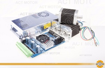 ACT Motor 3Axis Nema23 Stepper Motor 23HS8430 4-Lead 270oz-in 76mm 3.0A Bipolar+Driver Board TB6560+Power CNC Router image