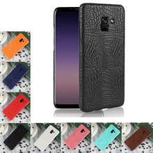 купить For Samsung Galaxy A7 2018 Case Luxury Crocodile Skin Hard Cover For Samsung Galaxy A7 2018 SM-A730x Case For Samsung A8 Plus дешево