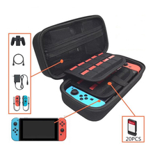 Upgrated Thicken Storage Bag for Nintend Switch Console Accessories Case Durable Shell for NS Nintendo Switch 20 game Card Slots yuxi soft portable bag nintend switch carrying game storage case protector for nintendo switch ns console