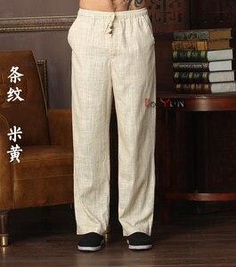Image 2 - Neue Ankunft Chinesischen männer Kung Fu Hosen Baumwolle Leinen Kung Fu Hose Tai Chi Hosen Wu Shu Hosen Größe M L XL XXL XXXL W32