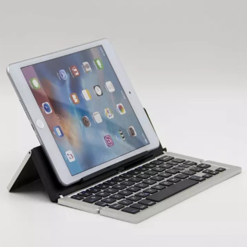 Folding Bluetooth Keyboard Wireless Keyboard For samsung tab 3 Lite T110 Tab 3 T210 T310 Smartphone Tablet Laptop Universal