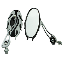 Universal motorcycle mirrors 10MM bike/motorbike rear view side pair white