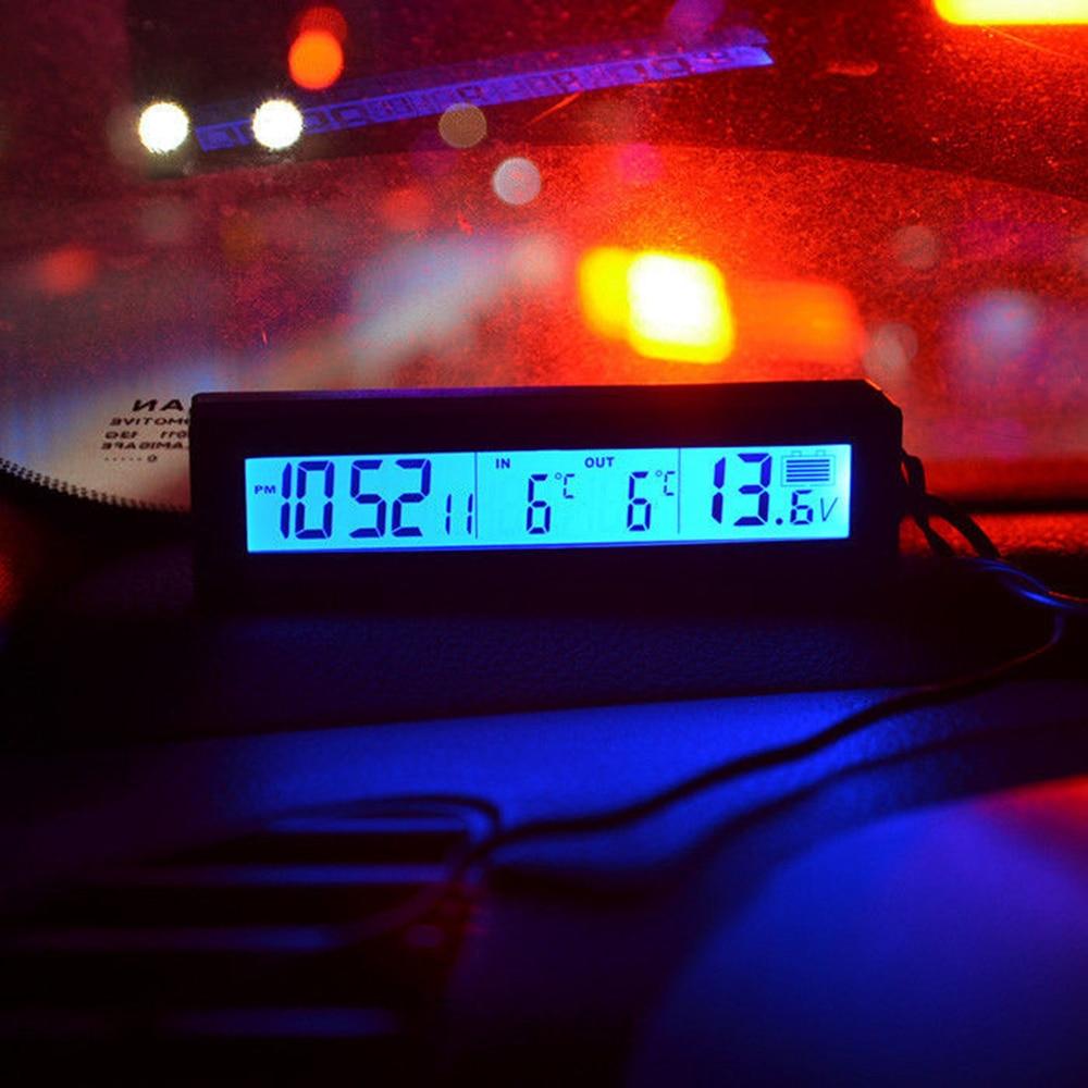3in1 12 V Pantalla LCD digital Medidor de voltaje de la batería del - Accesorios de interior de coche - foto 5