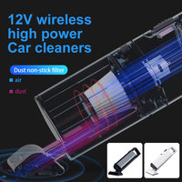 Vehemo Wet/Dry USB Auto Vacuum Cleaner Car Vacuum Cleaner Power Cord Durable Cyclonic Duster Vacuum Cleaner Spare Filter