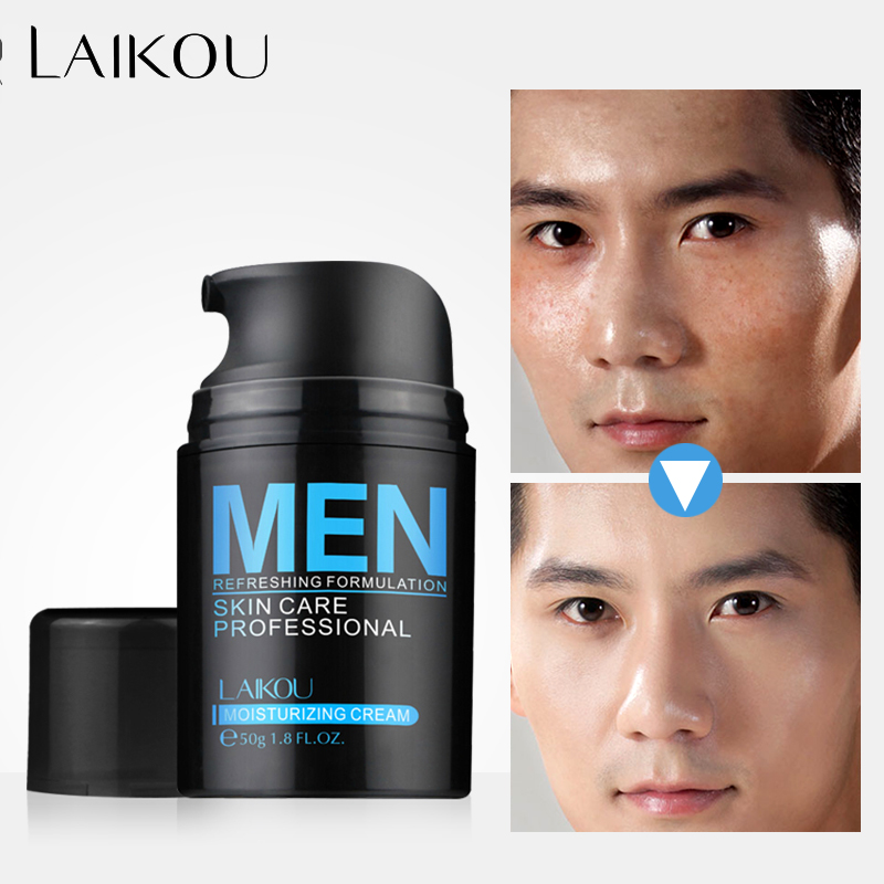 LAIKOU Hyaluronic Acid Face Cream Oil-control Men Lift Anti-Wrinkle Firming Shrink Pores Acne Day Cream Moisturizing Whitening 6pcs lot caicui hyaluronic acid firming moist face cream whitening skincare acne treatment blackhead anti wrinkle beauty ageless