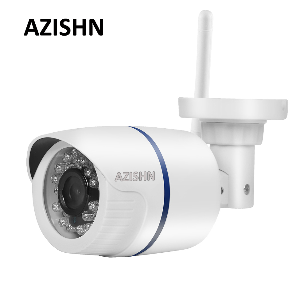 AZISHN Wifi IP Camera 1080P 960P 720P Wireless Wired ONVIF P2P Alarm 24IR Security CCTV Outdoor Camera With SD Card Slot Max 64G hd 720p 1080p wifi ip camera 960p outdoor wireless onvif p2p cctv surveillance bullet security camera tf card slot app camhi