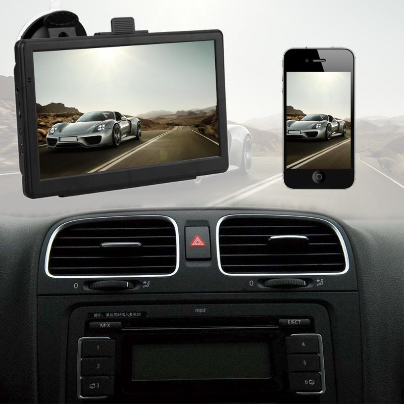 Portable 7 inch HD Car GPS Navigation FM Bluetooth Touch Screen GPS Navigator Video Player Truck GPS Navigators Automobile New