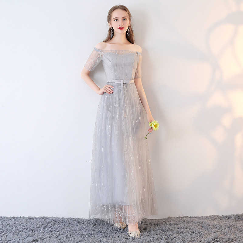 c572eb4f92 It's YiiYa Bridesmaids Dresses 6 Styles Boat Neck Short Sleeve Formal Dress  Elegant Lady Fashion Designer Quality LX707