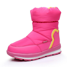 Super Waterproof Children Snow Boots 2019 Winter Wool Warm Shoes Girls Boys Rubber Anti-slip Boots Perfect for kids accessories flamingo winter wool keep warm shoes anti slip children orthotic arch high quality size 28 33 snow boots for girl 82d nq 1035
