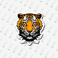 D3-058 tiger Sticker Notebook/refrigerator/skateboard/trolley case/backpack/Tables/book sticker PVC sticker NO929