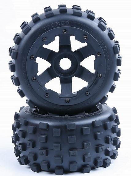 new knobby Rear tyres with inside cloth and upgrade waterproof insert foam for 1 5 hpi